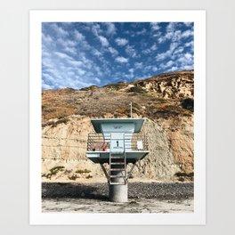 Beach Hut / Torrey Pines Art Print