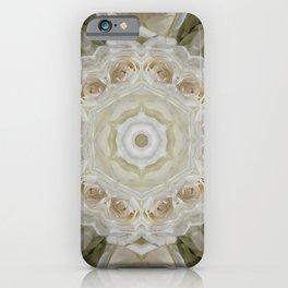 White Rose Flower Kaleidoscope  iPhone Case