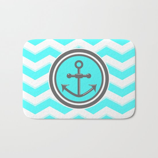 Chevron Anchor Bath Mat