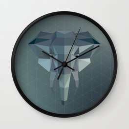 Geometric Elephant Wall Clock