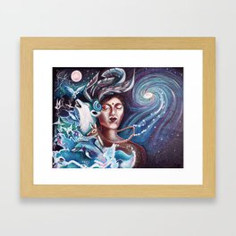 Nature Loves Courage Framed Art Print