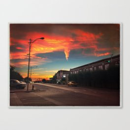 Small Town at Sunrise Canvas Print