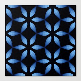 Big Blue Lotus Canvas Print