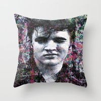 elvis Throw Pillows featuring ELVIS PRESLEY by Vonis