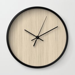 Beige / Tan / Neutral  Smooth Wood Grain Pattern Pairs To 2020 Color of the Year Chinese Porcelain Wall Clock