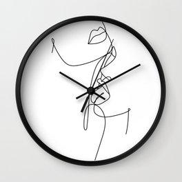 Just A Taste (White) Wall Clock