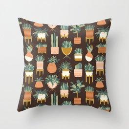 Cacti & Succulents Throw Pillow