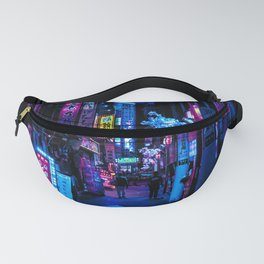 Tokyo's Moody Blue Vibes Fanny Pack