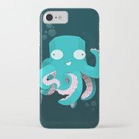 kraken iPhone & iPod Cases featuring Kraken by Damien Mason