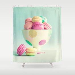 Macarons, macaroons bowl, pop art Shower Curtain