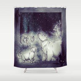 Long Ago Spirits Shower Curtain