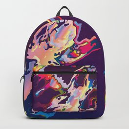Abstract Gasoline On Water Backpack