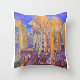 New College Palm Court Party Throw Pillow