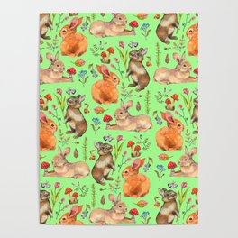 Forest rabbits - GBG Poster