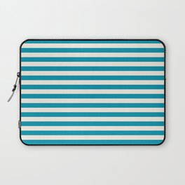 Bondi Blue Seashell Stripe Laptop Sleeve
