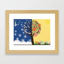 """Seasons"" Winter-Spring Framed Art Print"