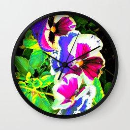 Floral Quasichrome Wall Clock
