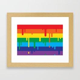 DRIPPY RAINBOW Framed Art Print