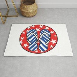 Life is Better in Flip Flops Patriotic Graphic Design Rug