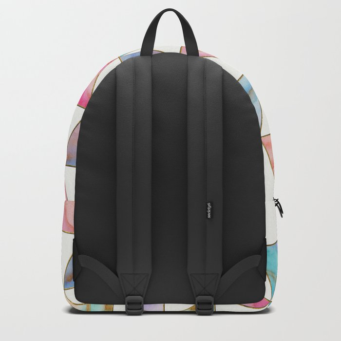 Marble Triangles Pattern Backpack