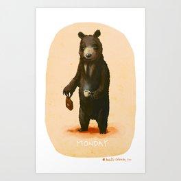 Monday Bear Art Print