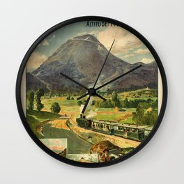 Vintage French Travel Poster: Paris-Lyon-Mediterranean - Clermont-Ferrand (1910) Wall Clock