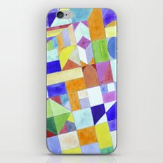 Playful Colorful Architectural Pattern iPhone & iPod Skin