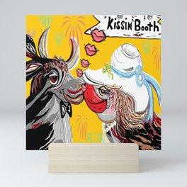 Cow Kiss Mini Art Print