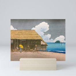 12,000pixel-500dpi - Kawase Hasui -Travel Souvenir Second Collection, Beach Hut, Ecchuu Himi Mini Art Print