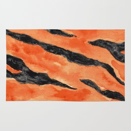 Tiger Stripes (Orange/Black) Rug