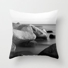 Stones in the sea Throw Pillow