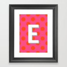 E Custom Listing Framed Art Print