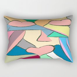 triptico 1 Rectangular Pillow