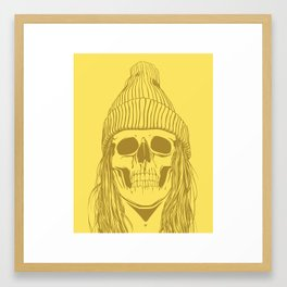 Skull Girl 3 Framed Art Print
