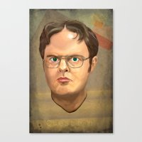 dwight Canvas Prints featuring Dwight by GoodGame