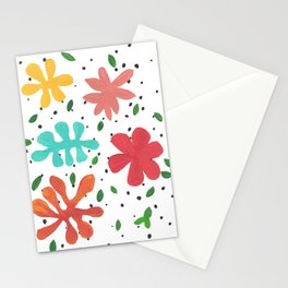 Tropical Leaves Two Stationery Cards