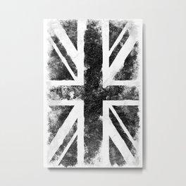 UK Black flag Metal Print