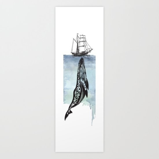 Whale And Boat Art Print