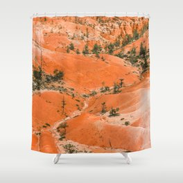 Bryce Canyon Hoodoos landscape on Queens Garden Trail Shower Curtain