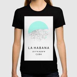 City Map of La Habana, CUBA T-shirt