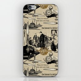 Murder on the Orient Express (Agatha Christie) Toile de Jouy iPhone Skin