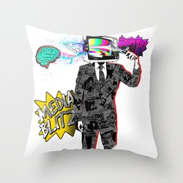 Media Blitz Throw Pillow