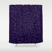 astrology Shower Curtains featuring Astrology by Dani Aviles