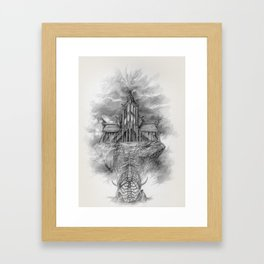 Sovngarde Hall of Valor from Skyrim Framed Art Print