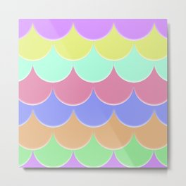 The Rainbow Scales Metal Print