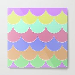 The Rainbow Scales Metal Print