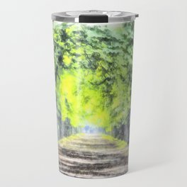 Forest Path Watercolour Art Travel Mug