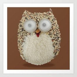 Specs, The Grainy Owl! Art Print
