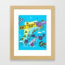 Honey for Sale! Framed Art Print