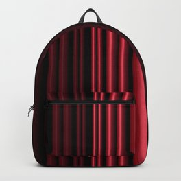 Red 3D Stripes Backpack